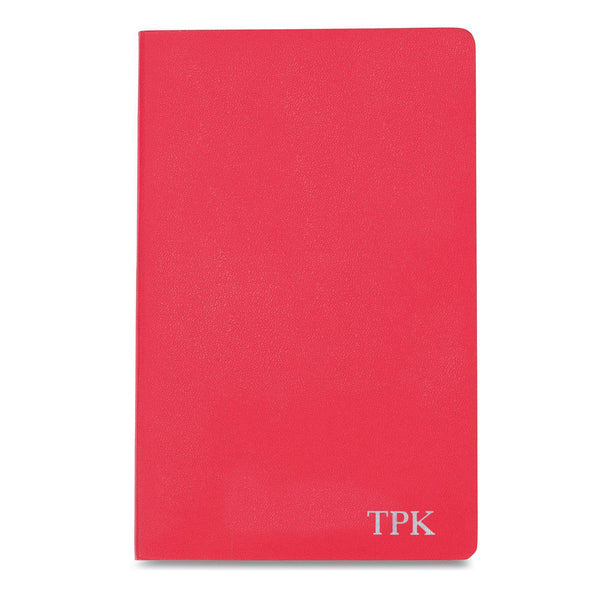 Personalized Moleskine® Notebook – Geranium Red - Silver - JDS