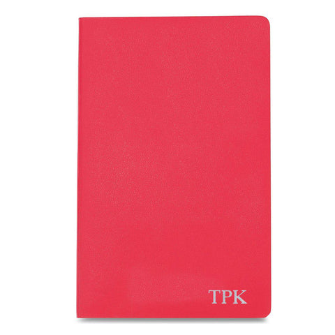 Personalized Moleskine® Notebook – Geranium Red - Silver - Desk and Office - AGiftPersonalized