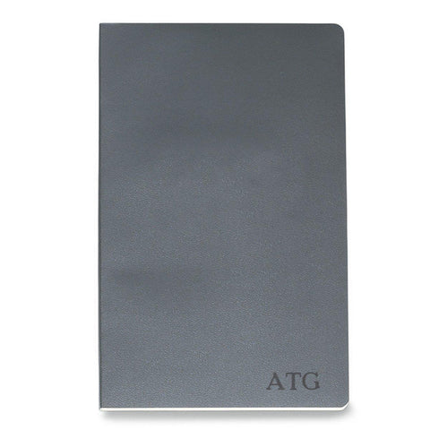 Personalized Moleskine® Notebook – Slate Gray - Blind - Desk and Office - AGiftPersonalized
