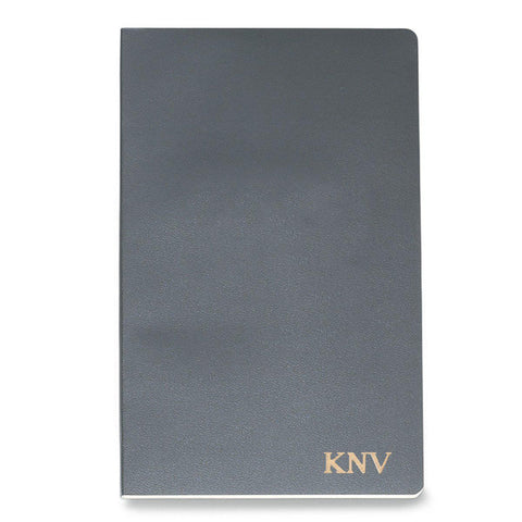 Personalized Moleskine® Notebook – Slate Gray - Gold - Desk and Office - AGiftPersonalized