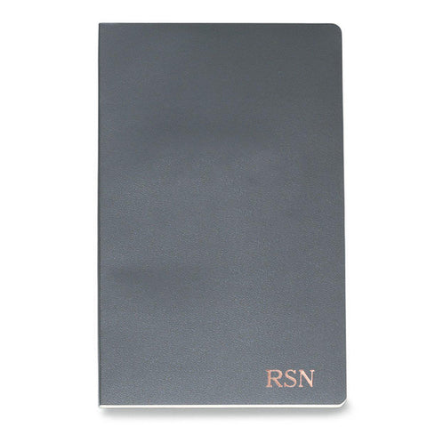 Personalized Moleskine® Notebook – Slate Gray - RoseGold - Desk and Office - AGiftPersonalized