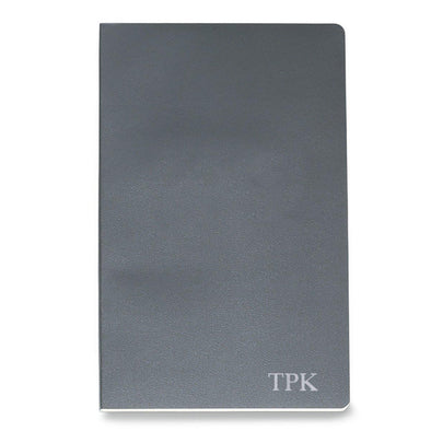 Personalized Moleskine® Notebook – Slate Gray - Silver - JDS