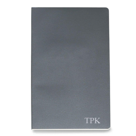 Personalized Moleskine® Notebook – Slate Gray - Silver - Desk and Office - AGiftPersonalized
