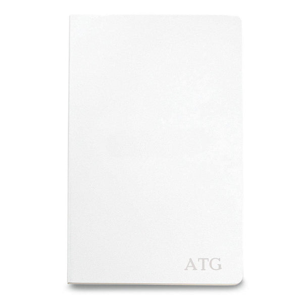 Personalized Moleskine® Notebook – Matte White - Blind - JDS