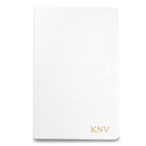 Personalized Moleskine® Notebook – Matte White - Gold - Desk and Office - AGiftPersonalized