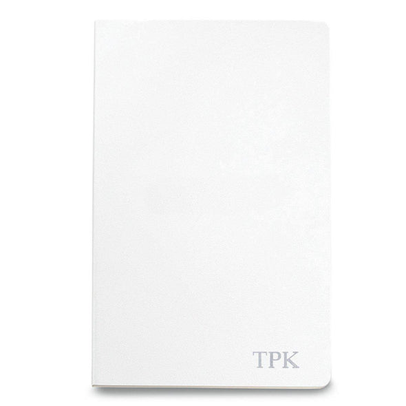 Personalized Moleskine® Notebook – Matte White - Silver - JDS