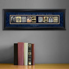 Personalized University Architectural Art - Big East College Art - NotreDame