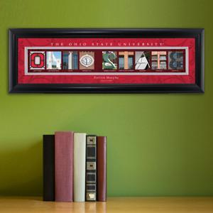 Personalized University Architectural Art - Big 10 Schools College Art - OhioST - Personalized Wall Art - AGiftPersonalized