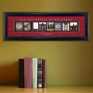 Personalized University Architectural Art - Big 12 Schools College Art - Oklahoma - JDS