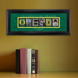 Personalized University Architectural Art - PAC 12 College Art - Oregon - Personalized Wall Art - AGiftPersonalized