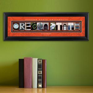 Personalized University Architectural Art - PAC 12 College Art - OregonST - JDS