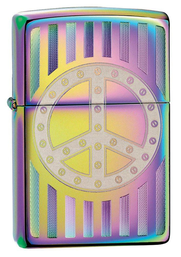 Personalized Rivit Peace Sign Zippo Lighter -  - Zippo