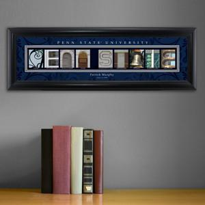 Personalized University Architectural Art - Big 10 Schools College Art - PennST - Personalized Wall Art - AGiftPersonalized