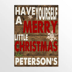 Personalized Holiday Canvas Signs - Merry Christmas