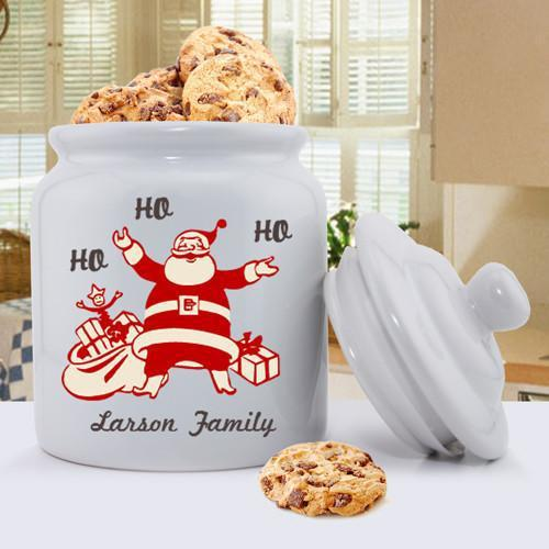Personalized Holiday Cookie Jars - VintageSanta - JDS