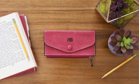 Monogrammed Womens Wallets - Rose - Qualtry