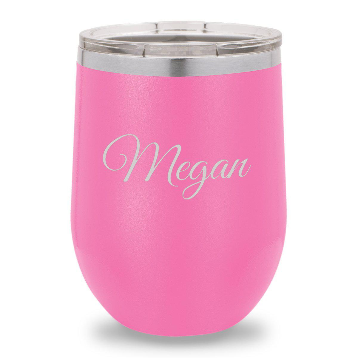 12 oz. Insulated Wine Tumbler - Matte Pink