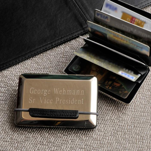 Personalized Expandable Executive Business Card Case -  - JDS