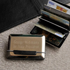 Personalized Expandable Executive Business Card Case at AGiftPersonalized