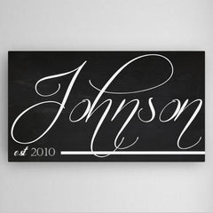 Personalized Family Chalkboard Canvas Sign -  - Canvas Prints - AGiftPersonalized