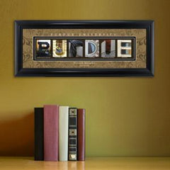 Personalized University Architectural Art - Big 10 Schools College Art - Purdue