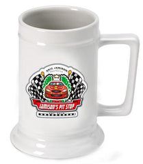 Personalized Ceramic Beer Stein - Personalized Ceramic Beer Mug - All - Racing - Personalized Barware - AGiftPersonalized