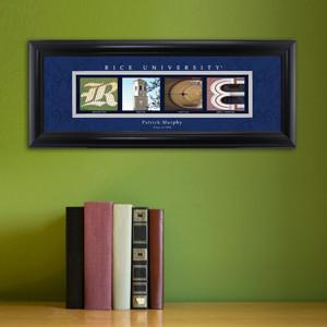 Personalized University Architectural Art - College Art - Rice - JDS