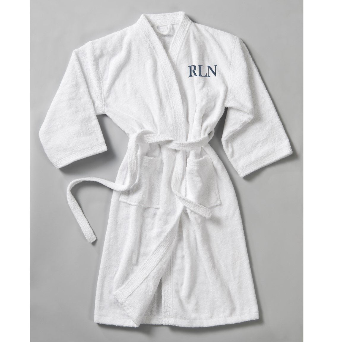 Personalized Men S Bathrobe White