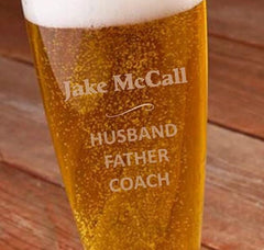 Personalized Engraved 22 oz. Pilsner - My Dad Defined -