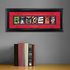 Personalized University Architectural Art - Big East College Art - Rutgers - Personalized Wall Art - AGiftPersonalized
