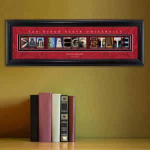Personalized University Architectural Art - College Art - SanDiegoST - JDS