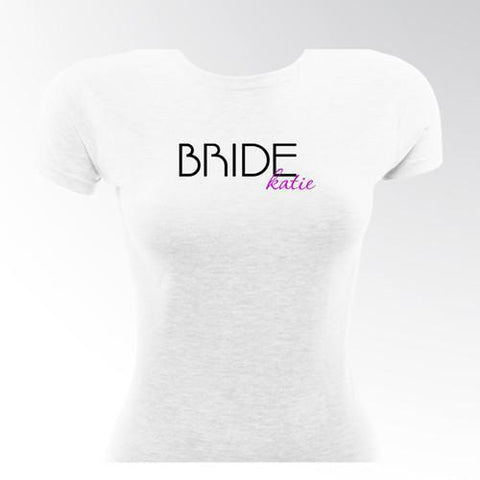 Personalized T Shirts - Bride T Shirt - Women's - Wedding Gifts - Signature 21 - T-Shirts - AGiftPersonalized