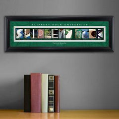 Personalized University Architectural Art - College Art - SlipperyRock