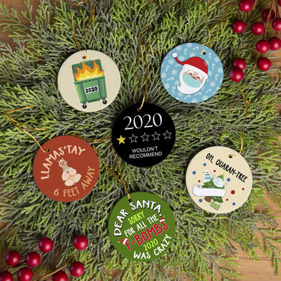 Personalizable Snarky Christmas 2020 Ornaments -  - Qualtry
