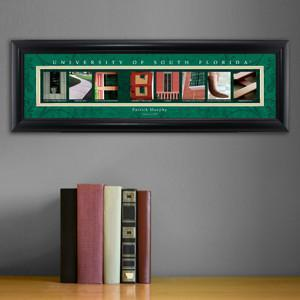 Personalized University Architectural Art - Big East College Art - SouthFlorida - JDS