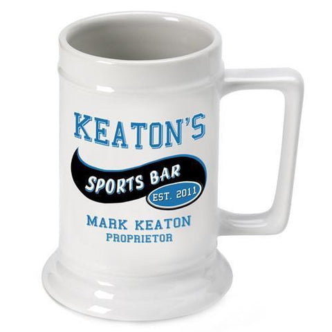 Personalized Ceramic Beer Stein - Personalized Ceramic Beer Mug - All - SportsBar - Personalized Barware - AGiftPersonalized