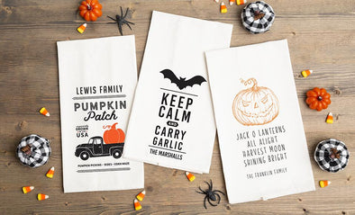 Personalized Halloween Tea Towels -  - Qualtry