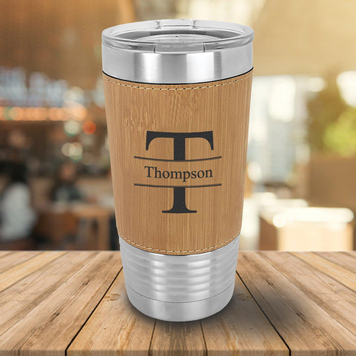 Personalized 20 oz. Bamboo Wrapped Tumbler