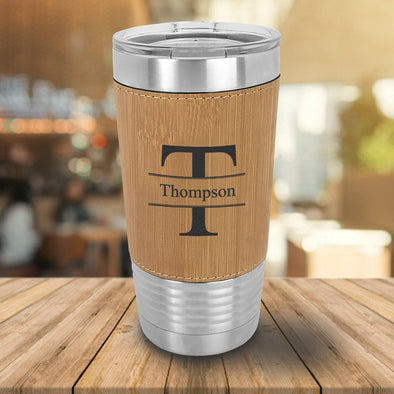 Personalized 20 oz. Bamboo Wrapped Tumbler -  - JDS