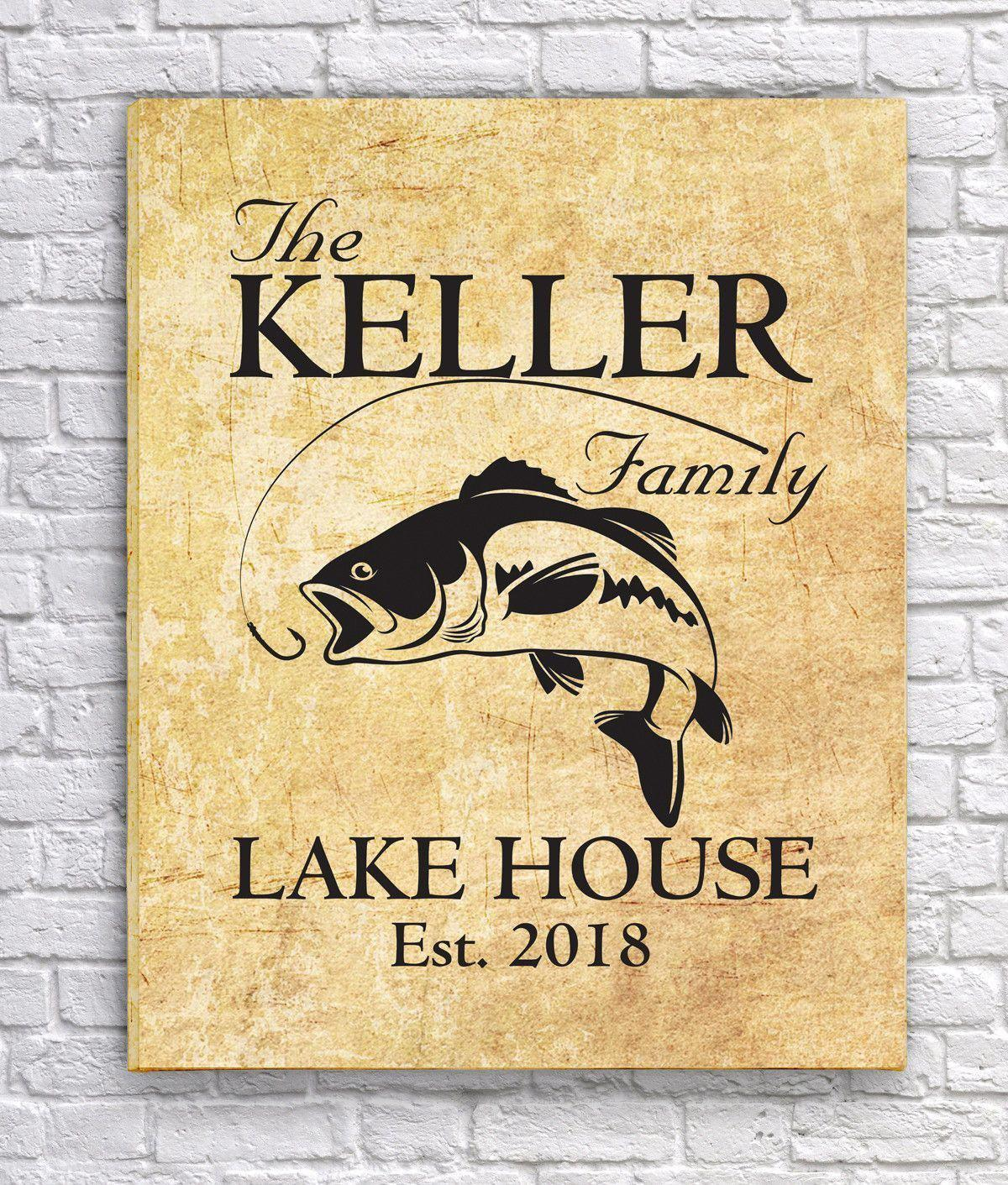 Personalized Lake House Canvas Signs