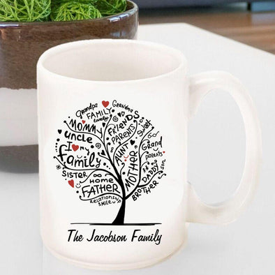 Personalized Family Roots Coffee Mug -  - JDS