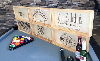 Personalized Beer Bottle Cap Shadow Box - Large -  - Qualtry