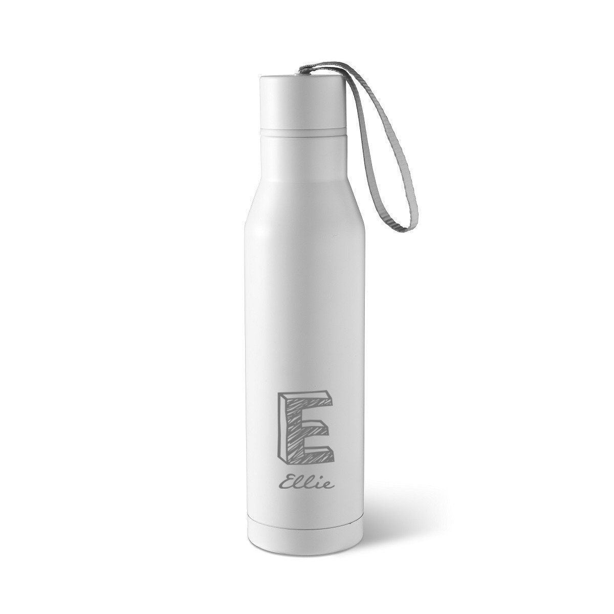Personalized White Double Insulated Stainless Steel Water bottle