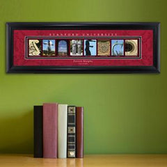 Personalized University Architectural Art - PAC 12 College Art - Stanford - Personalized Wall Art - AGiftPersonalized