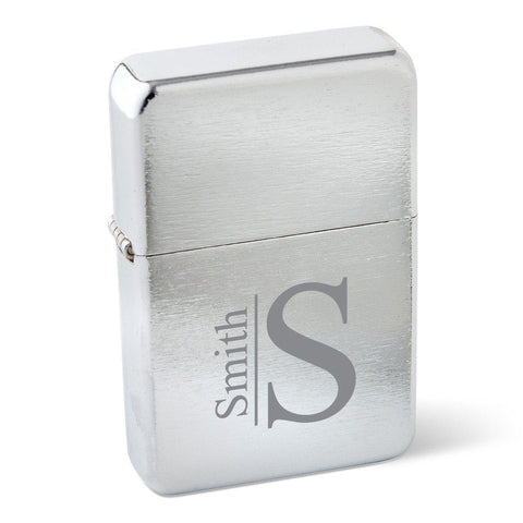 Personalized Lighters - Stainless Steel - Wind Proof - Groomsmen Gifts - Modern - Cigars and Humidors - AGiftPersonalized
