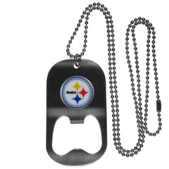 Personalized Bottle Opener - NFL - Necklace - Team Logo - Steelers - Professional Sports Gifts - AGiftPersonalized