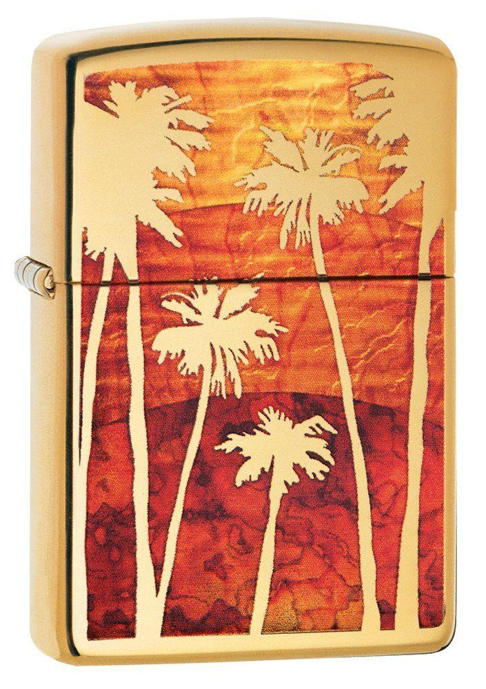 Personalized Fusion Palm Tree Sunset Lighter