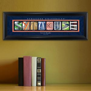 Personalized University Architectural Art - Big East College Art - Syracuse - Personalized Wall Art - AGiftPersonalized