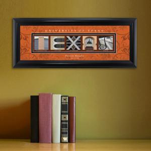 Personalized University Architectural Art - College Art - Texas - JDS