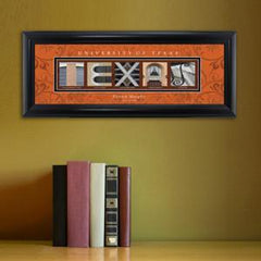 Personalized University Architectural Art - College Art - Texas